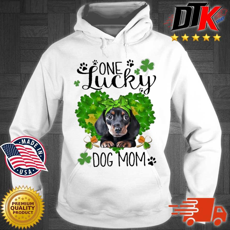 Dachshund one lucky dog mom St Patrick's Day Hoodie trang