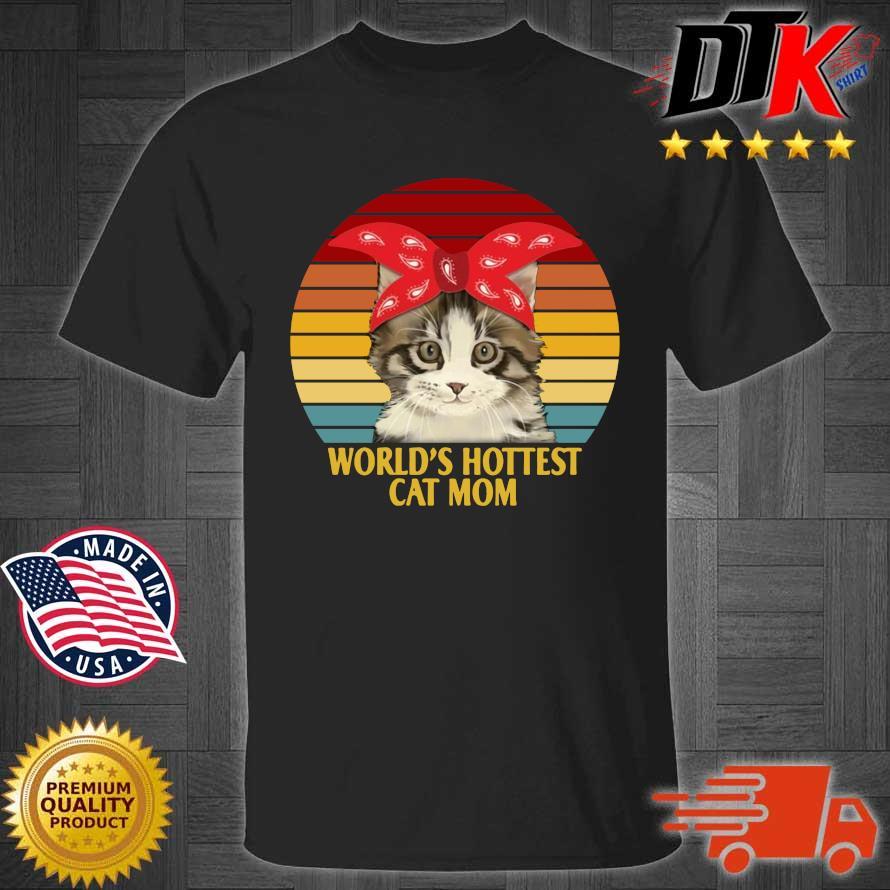 World's cutest cat mom vintage sunset shirt