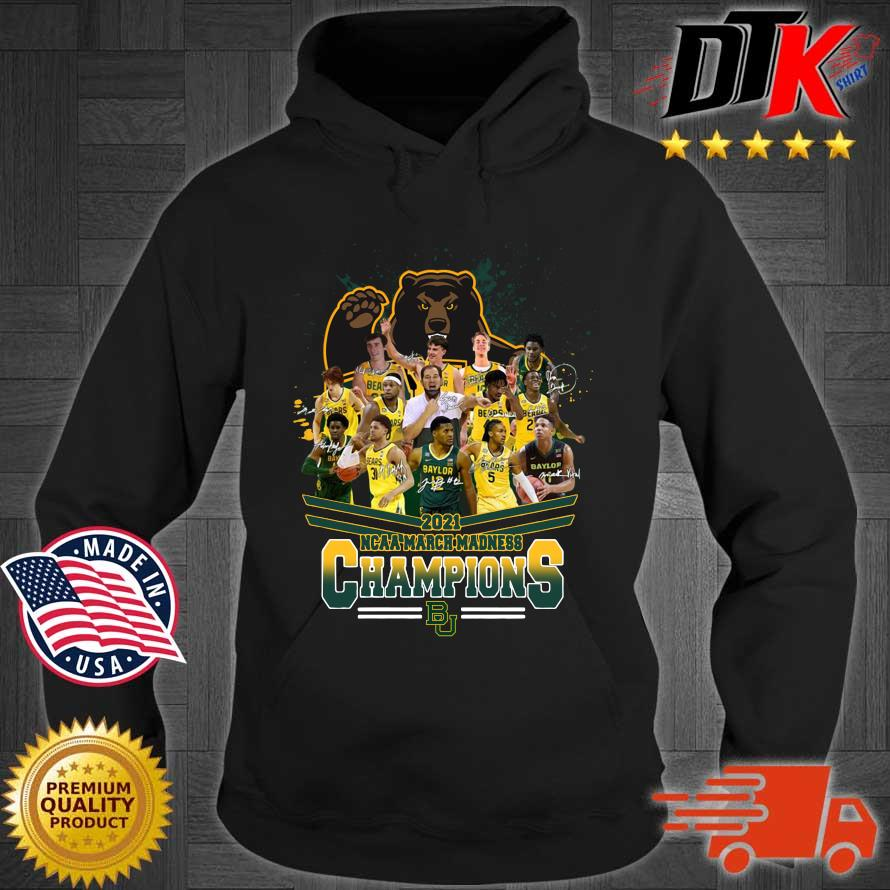 2021 NCAA March Madness Champions Baylor University Signatures t-s Hoodie den