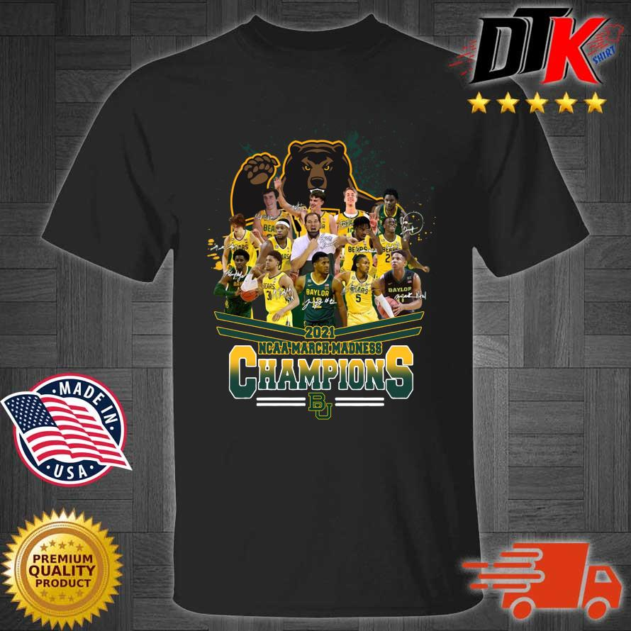 2021 NCAA March Madness Champions Baylor University Signatures t-shirt