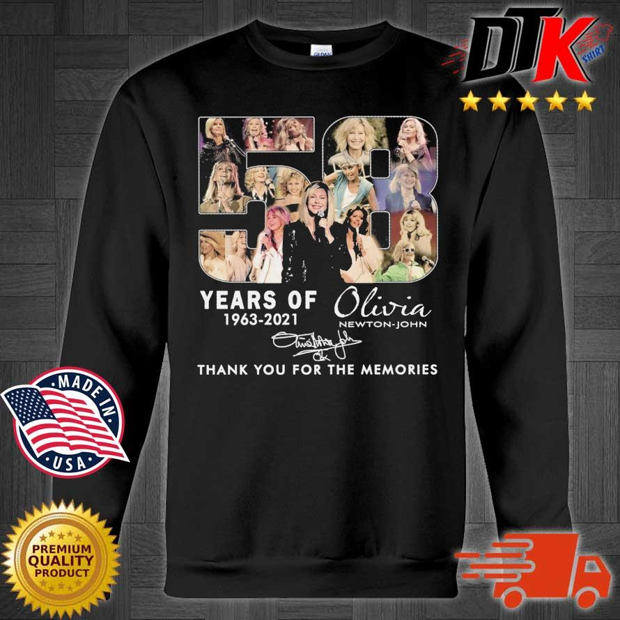 58 years of 1963-2021 Olivia Newton-John thank you for the memories signature Sweater den