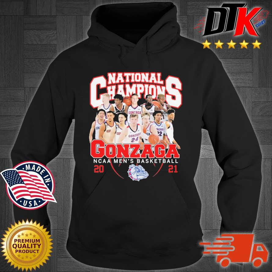 National Champions Gonzaga Bulldogs NCAA men's basketball 2021 Hoodie den