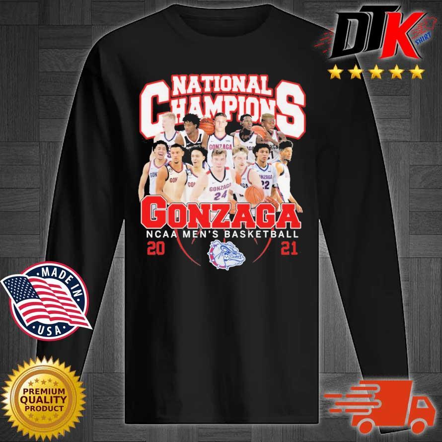 National Champions Gonzaga Bulldogs NCAA men's basketball 2021 Longsleeve tee den