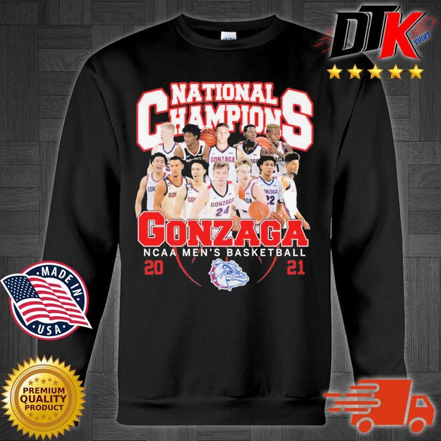 National Champions Gonzaga Bulldogs NCAA men's basketball 2021 Sweater den