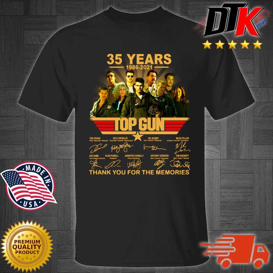35 years 1986-2021 Top Gun thank you for the memories signatures shirt