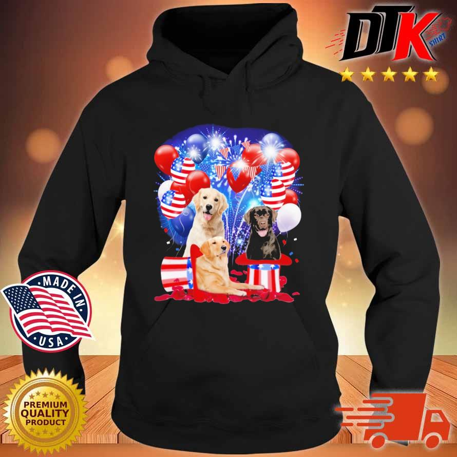 Labrador Retriever American Independence Day 4th Of July Shirt Hoodie den