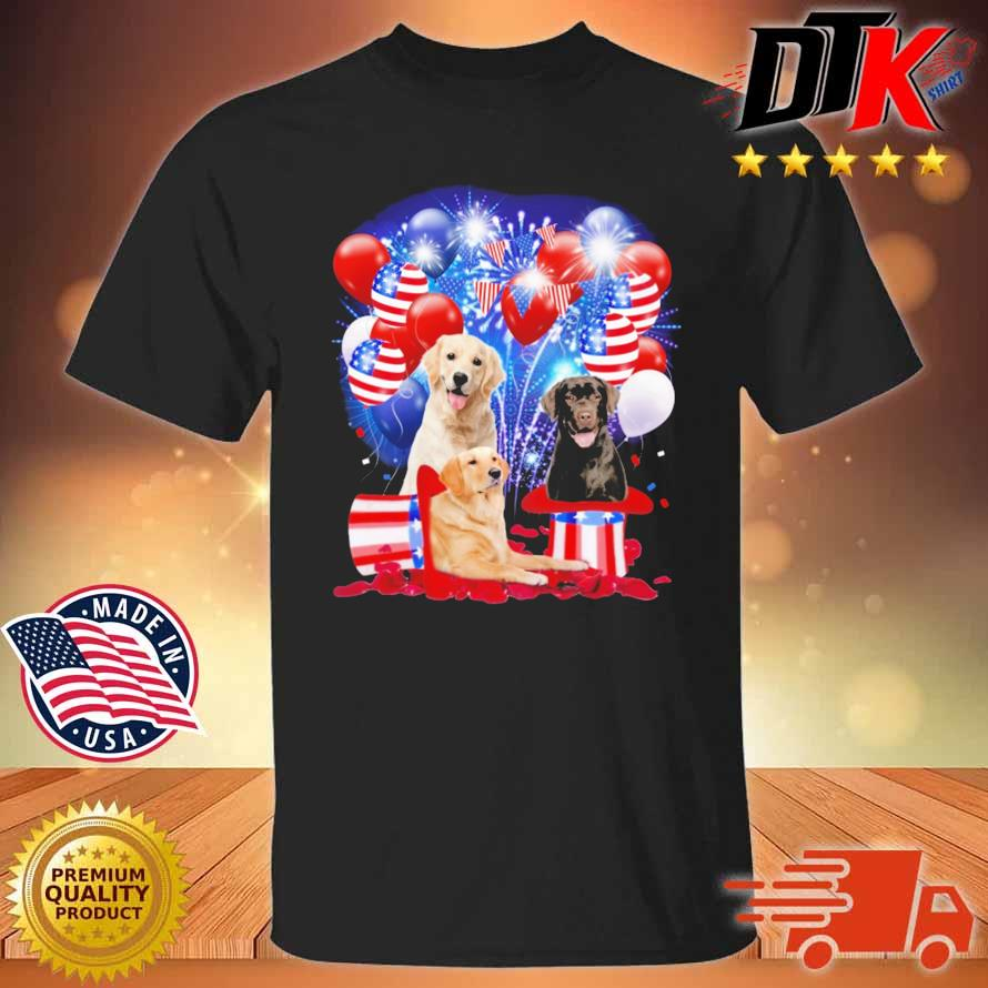 Labrador Retriever American Independence Day 4th Of July Shirt