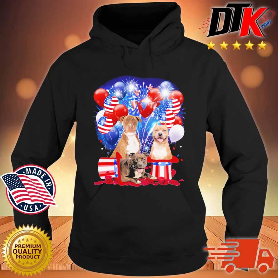 Pitbull American Independence Day 4th Of July Shirt Hoodie den