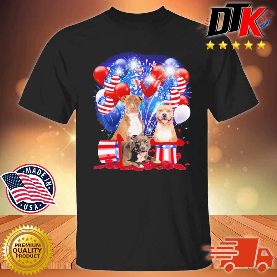 Pitbull American Independence Day 4th Of July Shirt