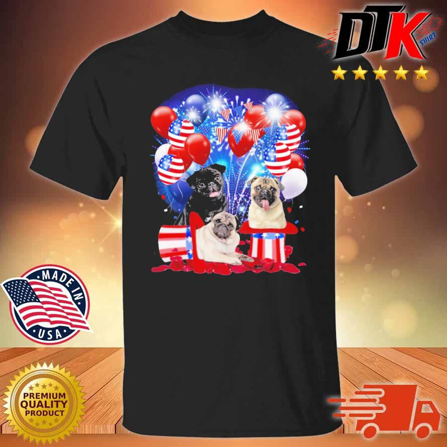 Pug American Independence Day 4th Of July Shirt