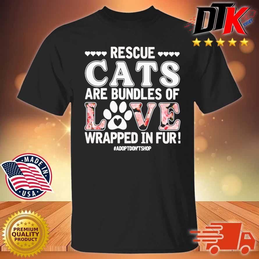 Rescue cats are bundles of love wrapped in fur shirt