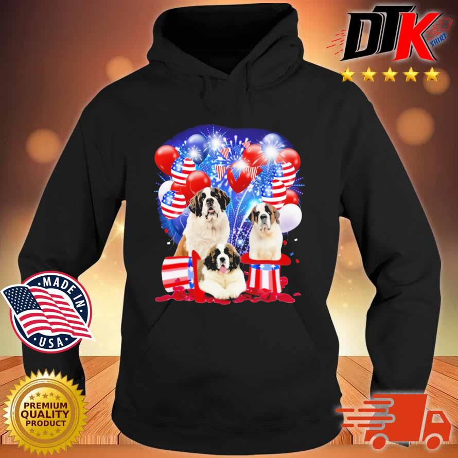 Saint Bernards American Independence Day 4th Of July Shirt Hoodie den