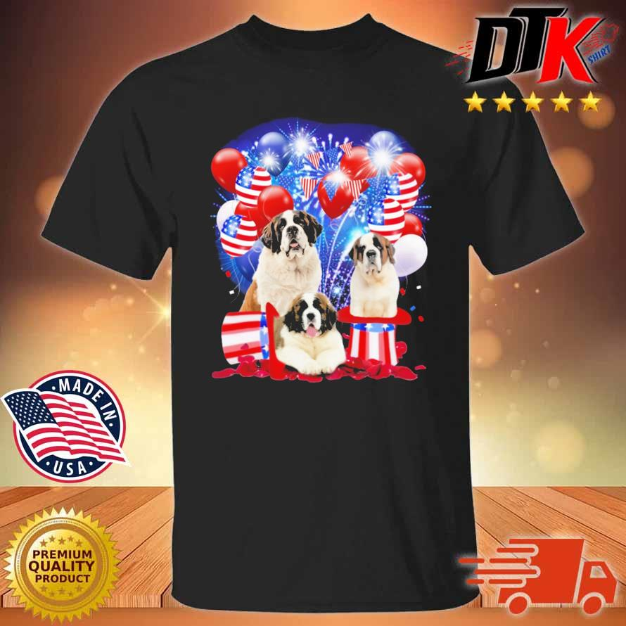 Saint Bernards American Independence Day 4th Of July Shirt