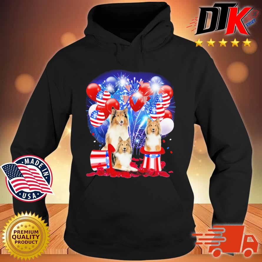 Shetland Sheepdog American Independence Day 4th Of July Shirt Hoodie den