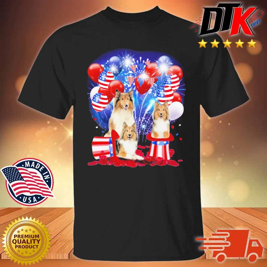 Shetland Sheepdog American Independence Day 4th Of July Shirt
