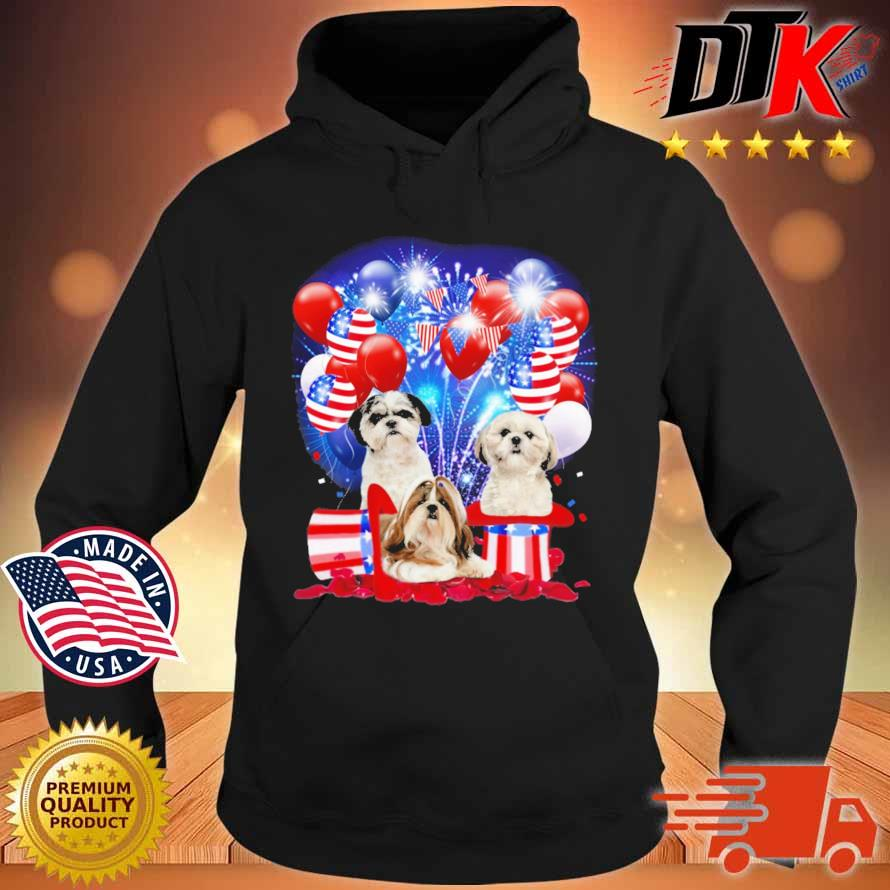 Shih Tzu American Independence Day 4th Of July Shirt Hoodie den