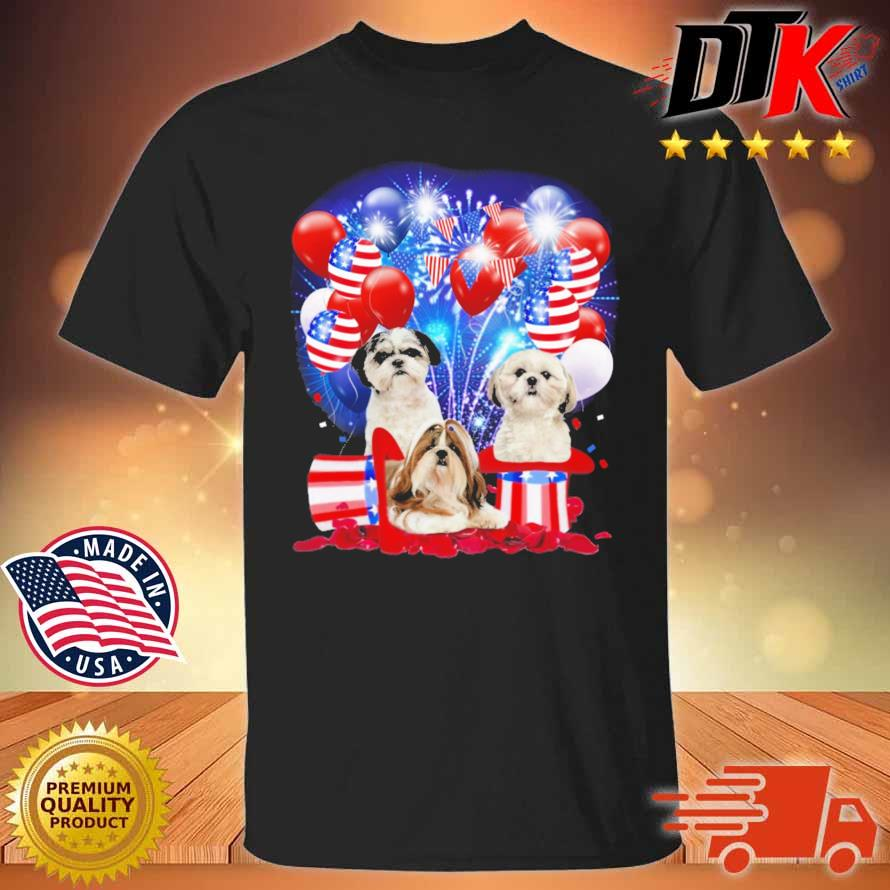Shih Tzu American Independence Day 4th Of July Shirt