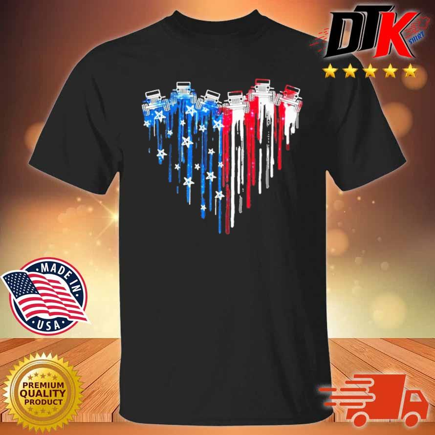 Tractors heart American flag 4th Of July shirt