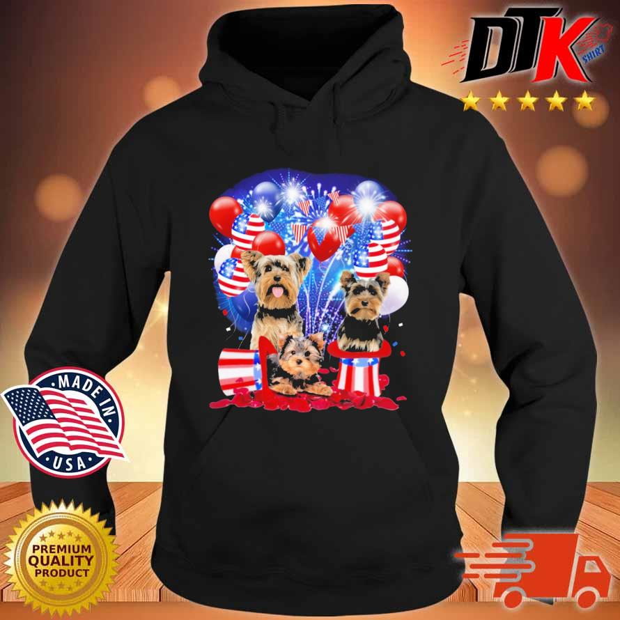 Yorkshire Terrier American Independence Day 4th Of July Shirt Hoodie den