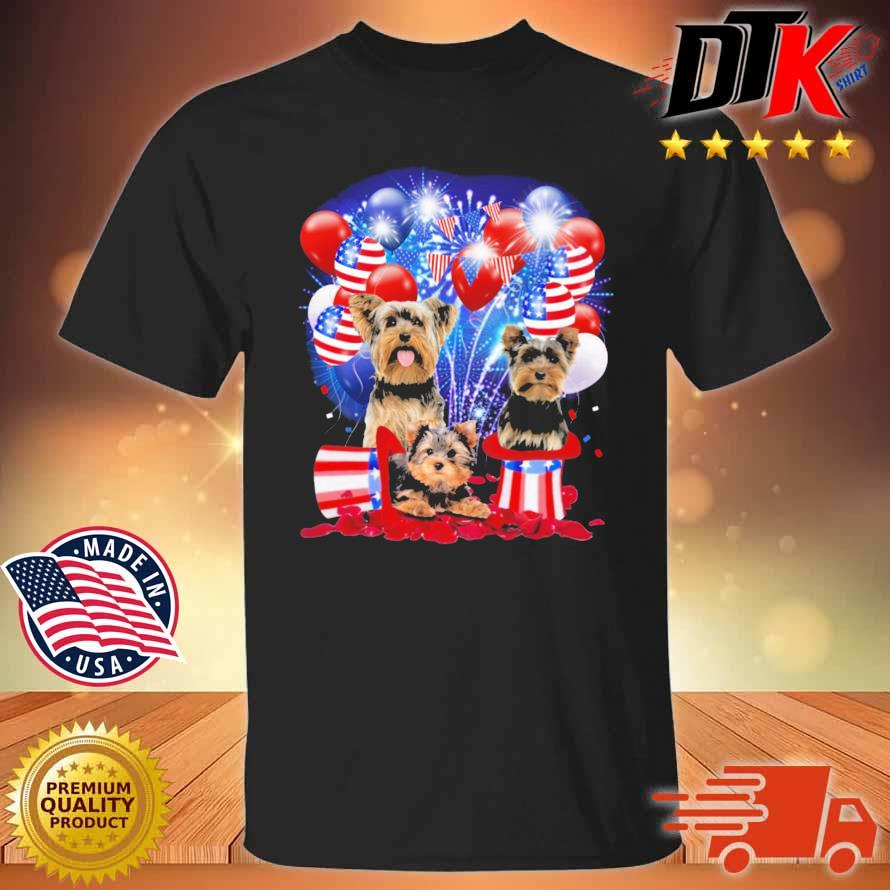 Yorkshire Terrier American Independence Day 4th Of July Shirt