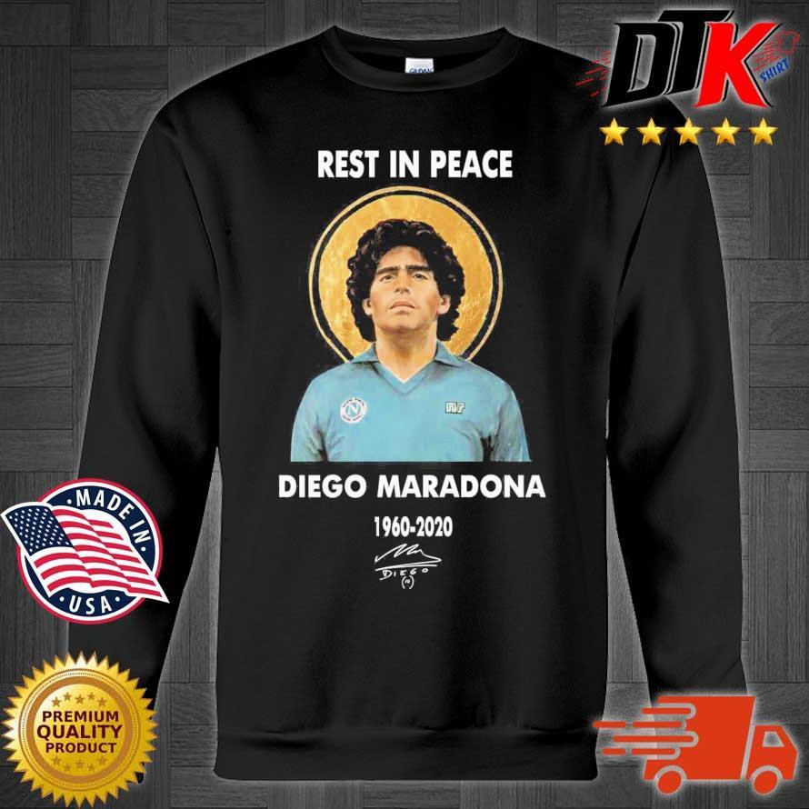 Rest in place Diego Maradona 1960-2020 signature s Sweater den