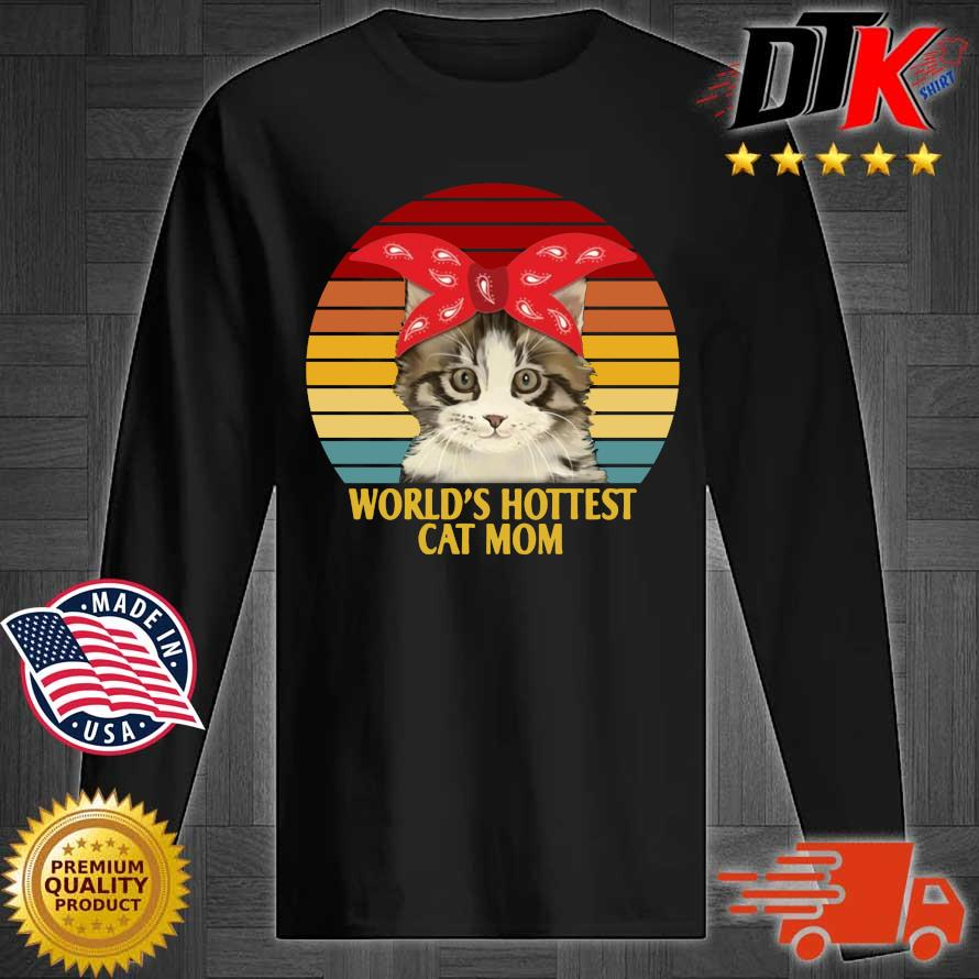 World's cutest cat mom vintage sunset s Longsleeve tee den