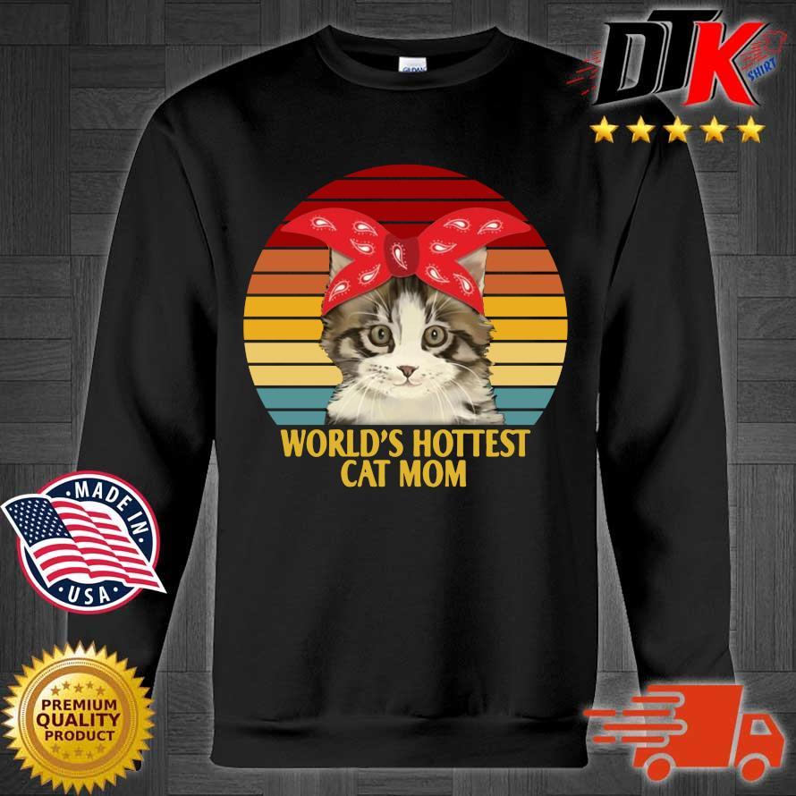 World's cutest cat mom vintage sunset s Sweater den