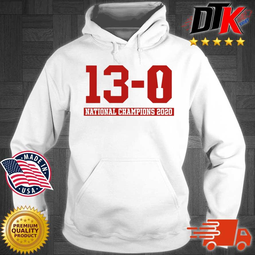 13-0 Alabama National Championship 2021 Shirt Hoodie trang