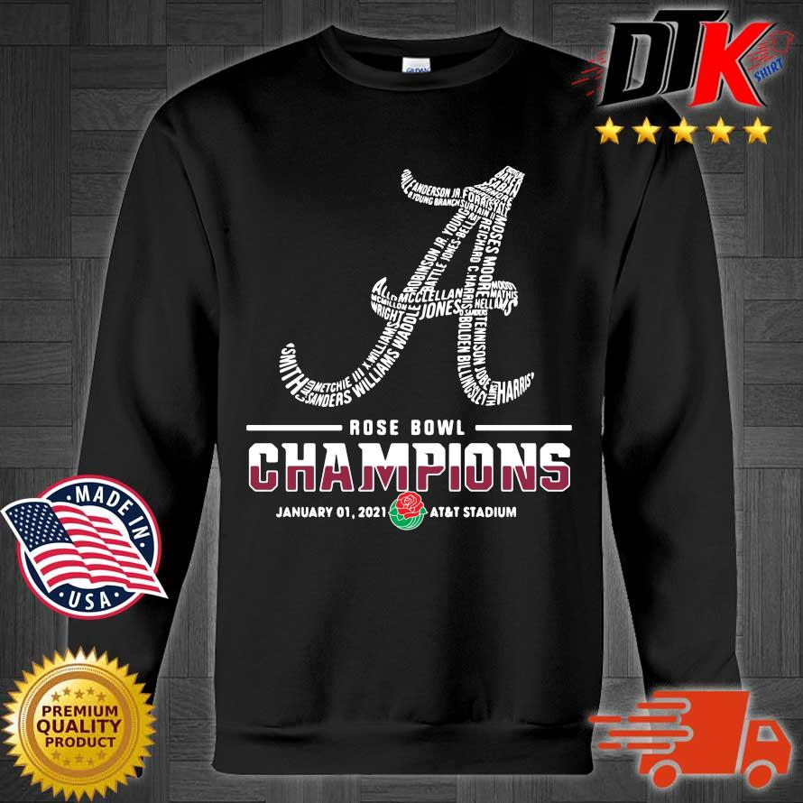 Alabama Crimson Tide player names rose bowl Champions january 01 2021 s Sweater den