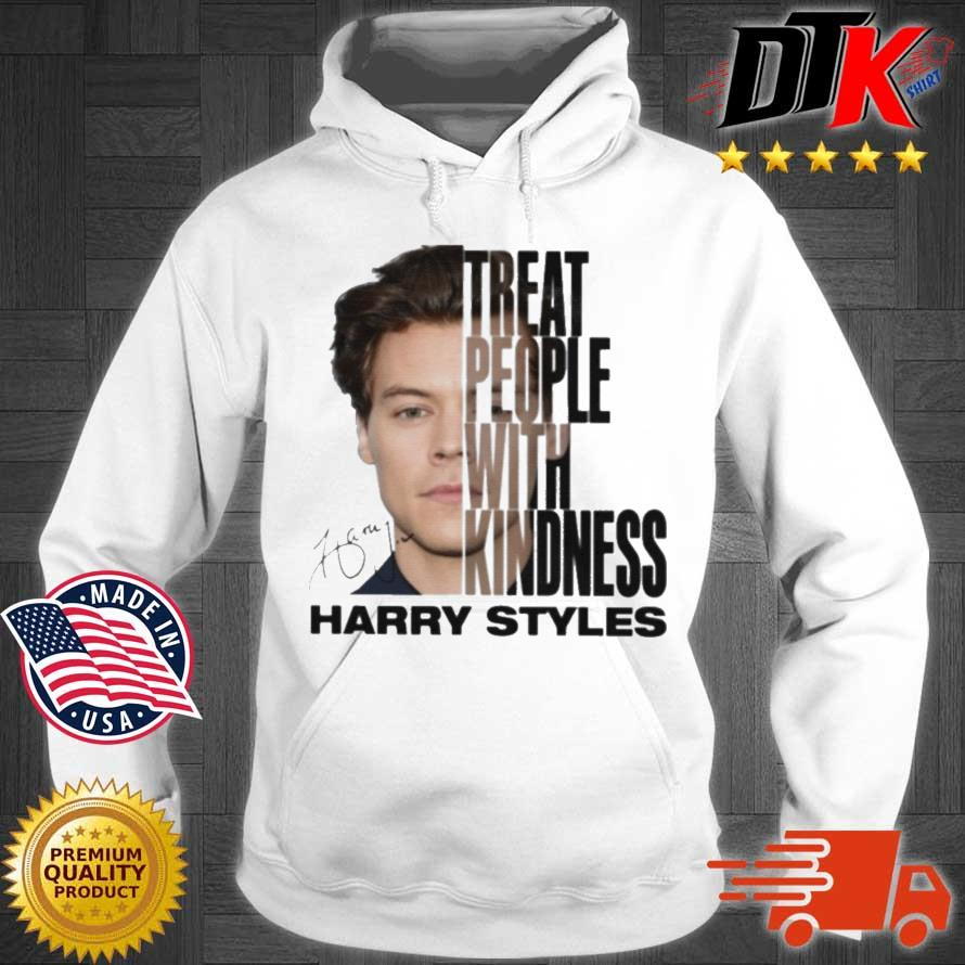 Harry Styles Treat People With Kindness Signature Shirt Hoodie trang