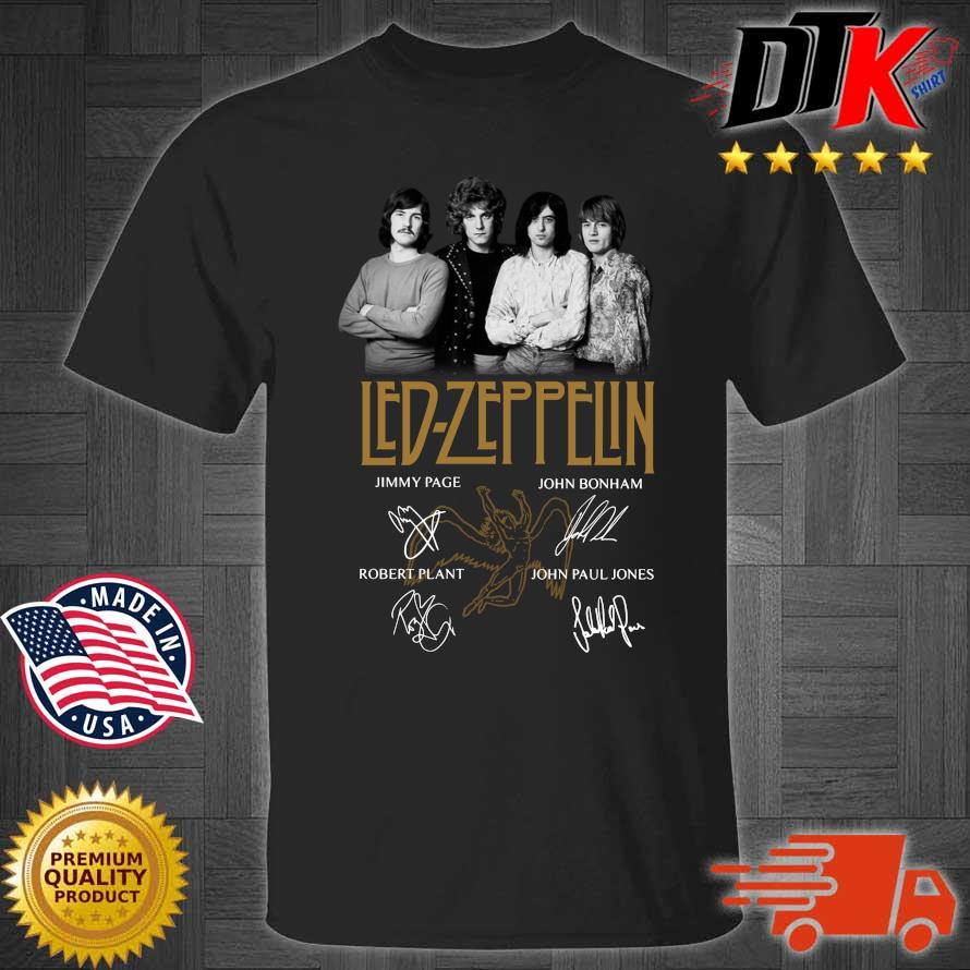 Led Zeppelin signatures shirt
