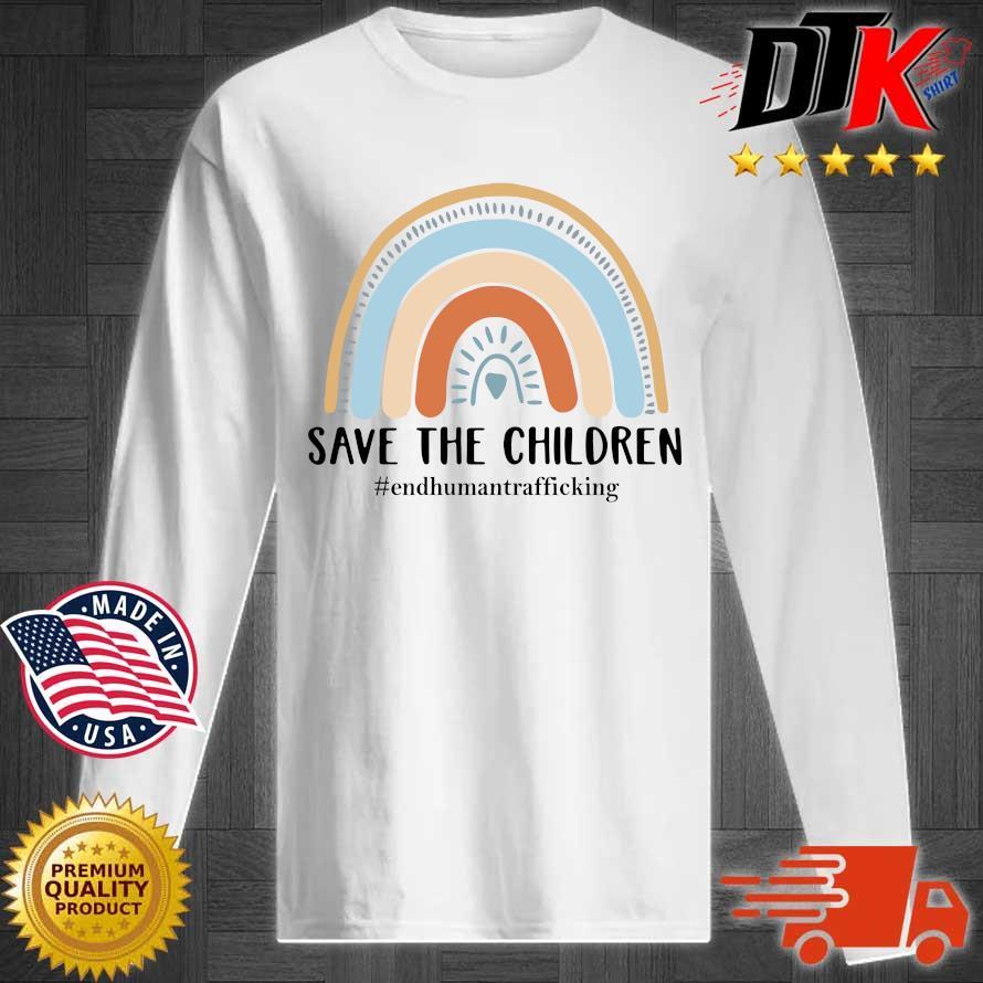 End human trafficking save the children s Longsleeve tee trang