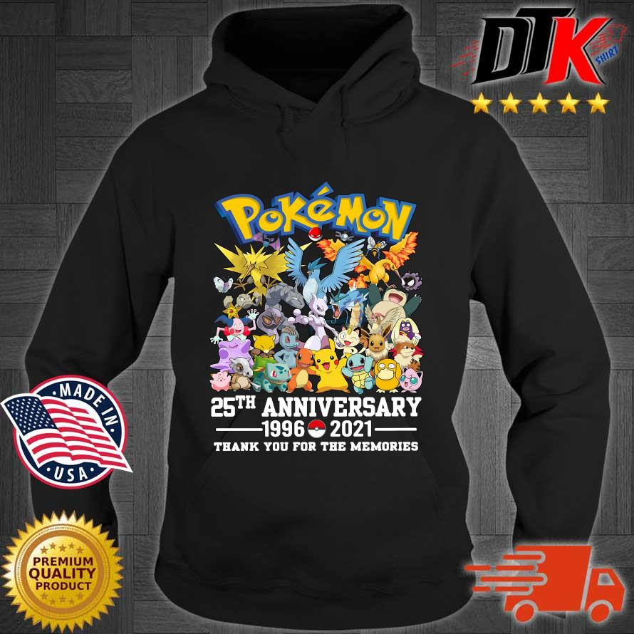 Pokemon 25th anniversary 1996-2021 thank you for the memories s Hoodie den
