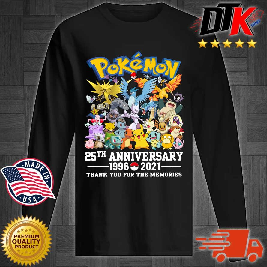 Pokemon 25th anniversary 1996-2021 thank you for the memories s Longsleeve tee den